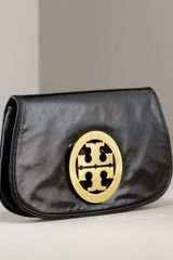 Tory Burch Leather Logo Clutch - Lyst