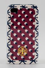 Tory Burch Hardshell Logo Iphone 4 Case in Red (khaki) - Lyst