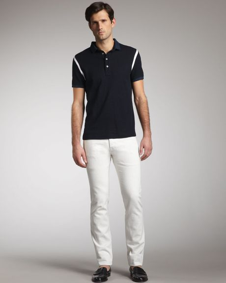 Valentino Slim White Jeans in White for Men (off white) - Lyst