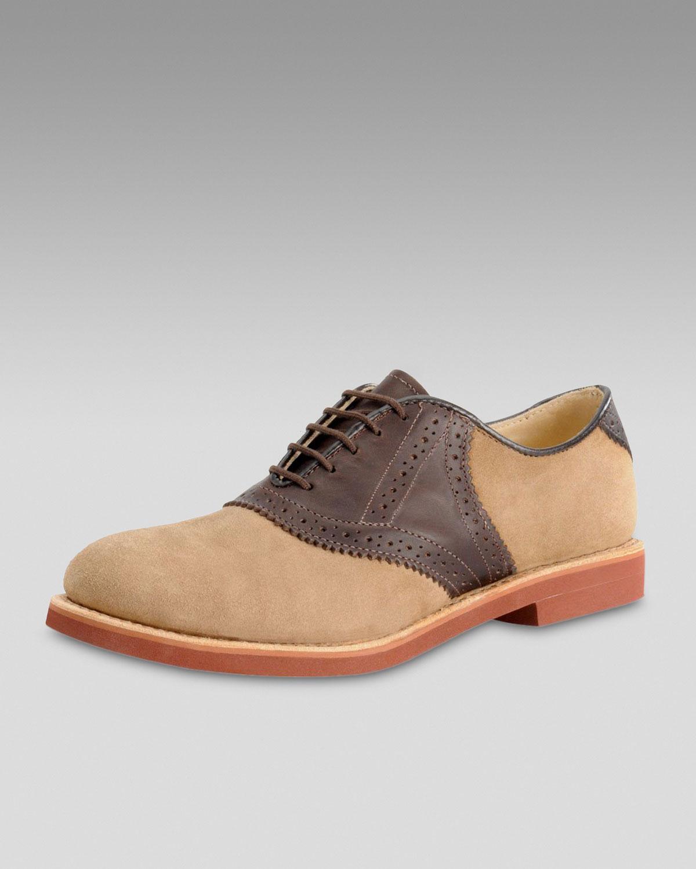 walk nubuck saddle shoe in brown for brown