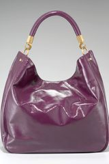 Saint Laurent Roady Patent Hobo in Purple (dk magenta) - Lyst