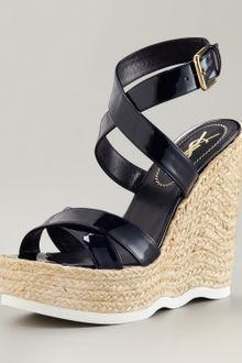 Yves Saint Laurent Ankle-strap Espadrille Wedge - Lyst