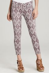 7 For All Mankind Jeans Crop Skinny Jeans in Diamond Summer Print - Lyst