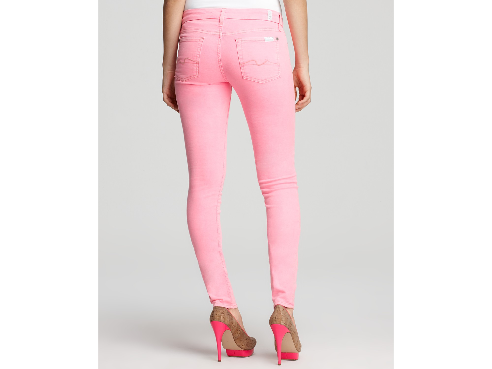 2019 year for women- Pink Neon skinny jeans