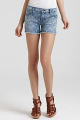 7 For All Mankind Shorts Carlie Cut Off Denim Shorts  - Lyst
