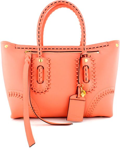 Alexander Mcqueen Coral Small Shopper in Orange (coral) - Lyst