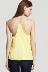Alice + Olivia V Neck Tank Fierro Yback in Green (yellow) - Lyst