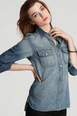 Ash Currentelliott Shirt The Perfect Denim Shirt in Minor Wash - Lyst