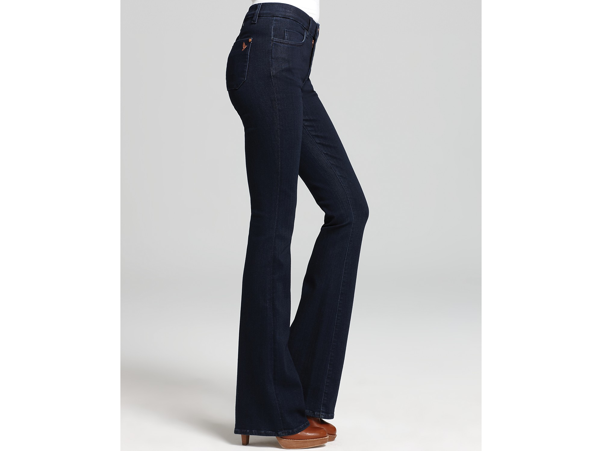 Ash Mih Jeans Skinny Marrakesh Mid Rise Flare Jeans in Joplin Wash ...