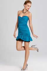 BCBGMAXAZRIA Dress Taffeta Dress - Lyst