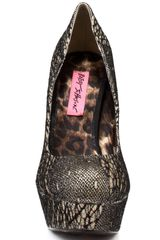 Betsey Johnson Diskko And in Gold - Lyst