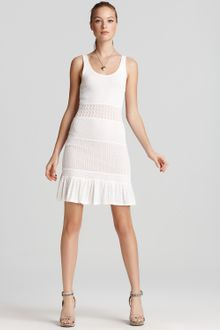 Catherine Malandrino Dress Tiered Pointelle - Lyst