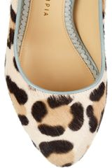 Charlotte Olympia Polly Calf Hair and Leather Pumps in Beige (leopard) - Lyst