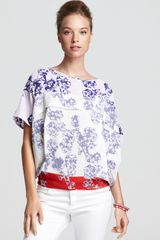 Diane Von Furstenberg Top Landy Striped - Lyst