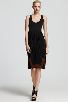 Donna Karan New York Dress Contrast Border Self Belt - Lyst