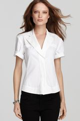 Donna Karan New York Shirt Roll Sleeve Seamed - Lyst