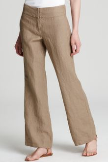 Eileen Fisher Linen Wide Leg Trousers - Lyst