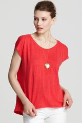Eileen Fisher Linen Boxy Top - Lyst