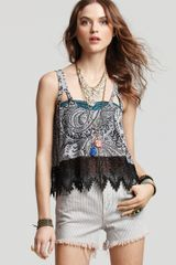 Free People Top Tea Room Crop - Lyst