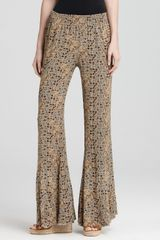 Free People Printed Wide Leg Pants  - Lyst
