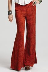 Free People Printed Wide Leg Pull On Pants  - Lyst