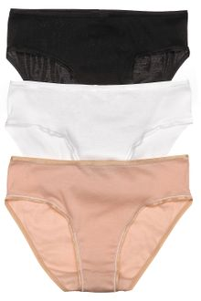 Hanro Cotton Seamless Briefs High Cut Full - Lyst
