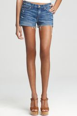 J Brand Low Rise Cutoff Denim Shorts - Lyst