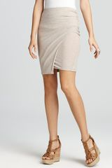 James Perse Skirt Faux Wrap Skirt - Lyst