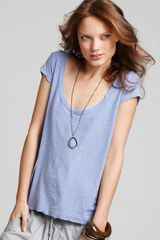 James Perse Tee Cap Sleeve - Lyst