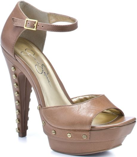 Jessica Simpson Kory Light Leather in Brown (tan) - Lyst