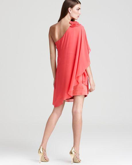 Cleo S Clothing: Max & Cleo Dress Kristine One Shoulder Dress In Orange
