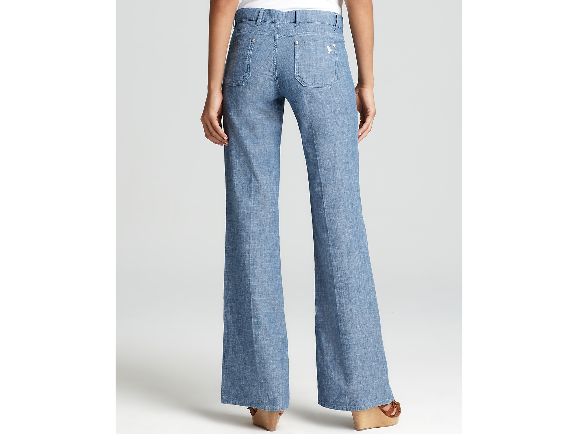 M.i.h jeans Pants Miramar Patch Pocket Wide Leg Chambray Pants in ...