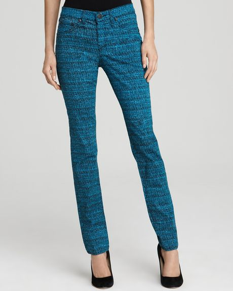 Rag & Bone The Printed Leggings Blue Tweed in Blue (blue tweed) - Lyst