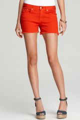 Rag & Bone Shorts Denim Cutoff in Bright Orange - Lyst