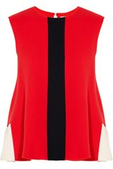 Roksanda Ilincic Fuji Wool Crepe Color Block Top - Lyst