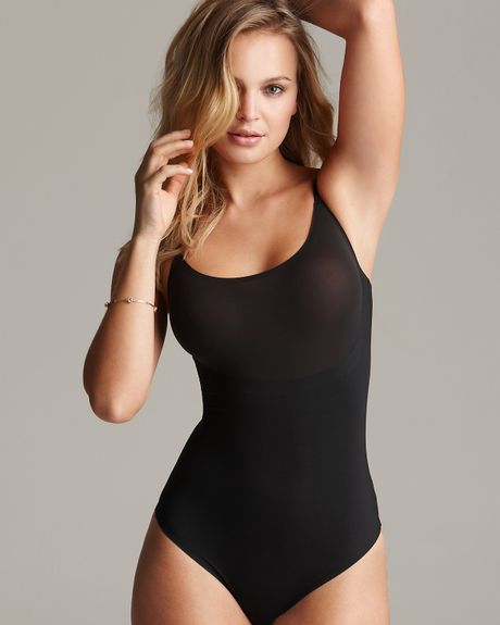 Spanx Trust Your Thinstincts Bodysuit  in Black (natural) - Lyst