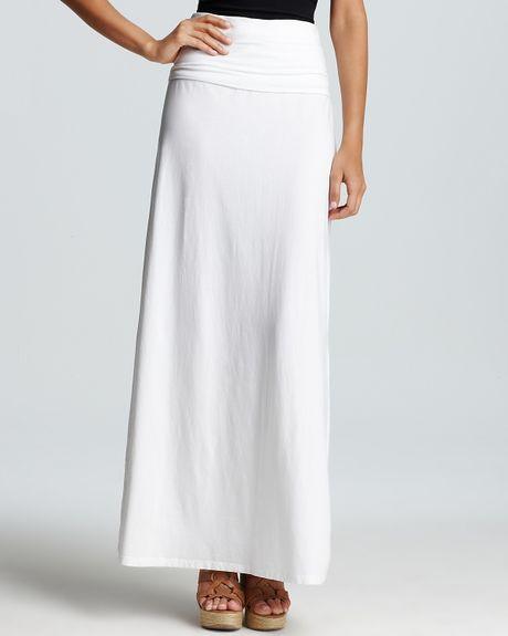 splendid foldover maxi skirt in white 900 lyst