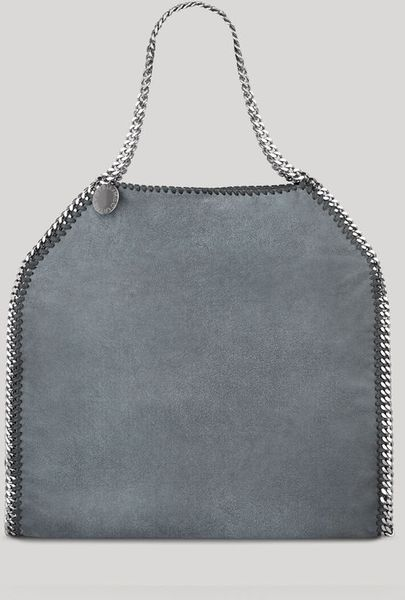 Stella Mccartney Shaggy Deer Big Tote Falabella in Blue - Lyst