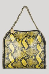 Stella Mccartney Falabella Python Small Tote in White (golden syrup) - Lyst