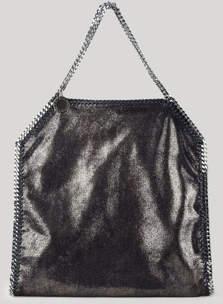 Stella Mccartney Falabella Chamois Big Tote in Blue (ruthenium) - Lyst