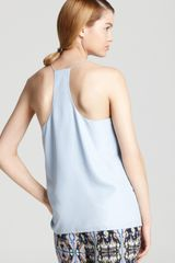Tibi Cami Strappy in Blue (powder blue) - Lyst