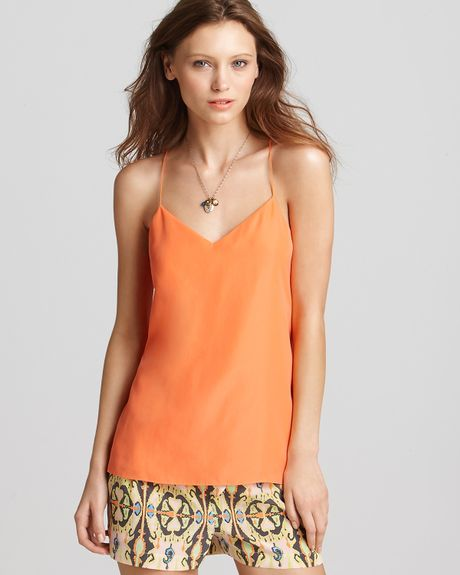 Tibi Cami Strappy in Orange (tangerine) - Lyst