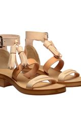 Acne Ambrosia Tasselled Leather Sandals