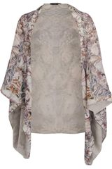 Alexander McQueen Mother Of Pearl Printed Silk Cape - Lyst