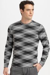 Armani Woven Sweater in Gray for Men (grey) - Lyst