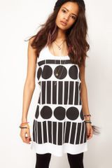 Asos Collection Asos Vest in Spot and Stripe in Black (blackwhite) - Lyst