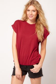 ASOS Collection Asos Tshirt in Loop Back with Gathered Hem - Lyst