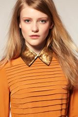 Asos Collection Asos Gold Sequin Collar in Gold - Lyst