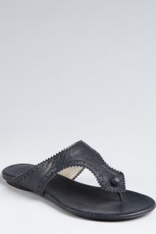 Balenciaga Dark Night Leather Arena Tooled Thong Sandals - Lyst