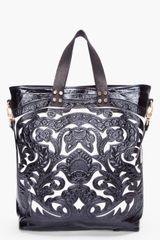 Balmain Black Marie Embossed Tote in Black - Lyst
